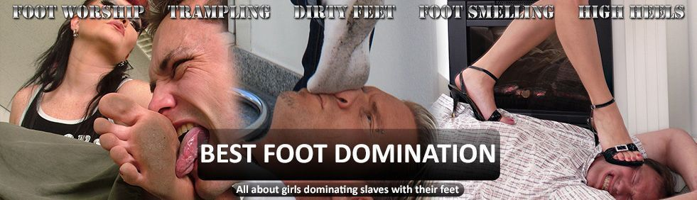Mistress Megan's slave licks her feet to punish himself | Best Foot Domination